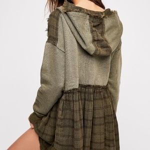 Free People Oversize Plaid Summer Dreams Pullover